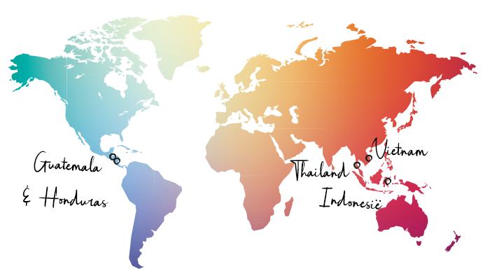 Guatemala Honduras Thailand Vietnam Indonesie