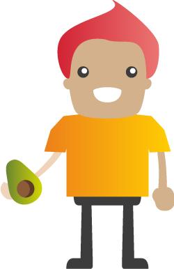 Vacature poppetje avocado